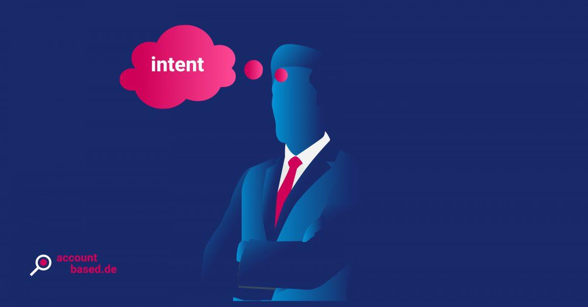 Symbolbild Intent-Signal: abstrakte Person mit einer Gedankenblase