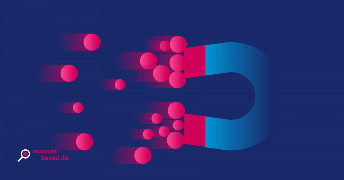Symbolbild B2B Leadgenerierung: Magnet, der Leads anzieht