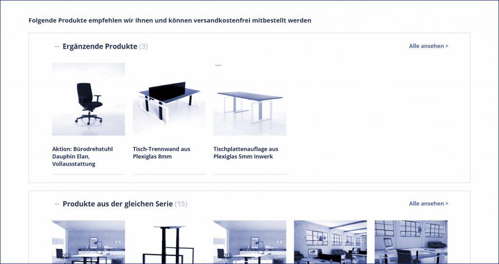 Cross-Selling Beispiel des Büromöbelanbieters inwerk-bueromoebel.de