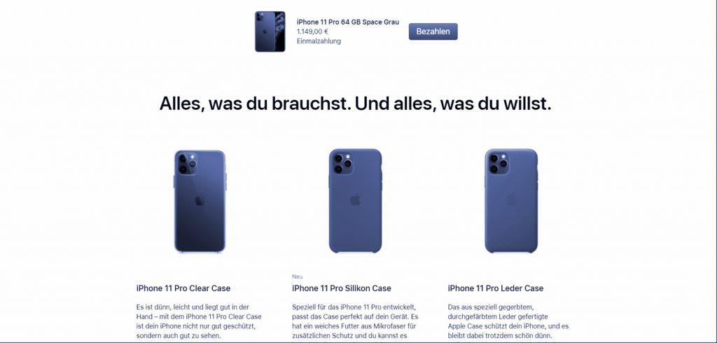 Screenshot: Apple schlägt als Cross-Selling-Maßnahme eine Ergänzung vor.