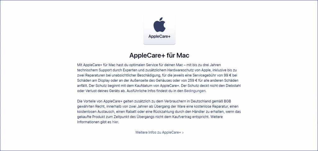 Upselling am Beispiel von Apple Care