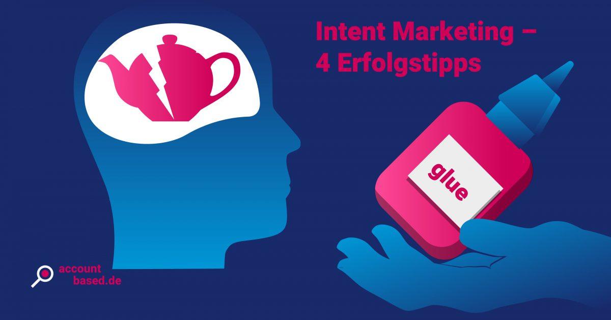 Symbolbild für Intent-Marketing B2B: Hand bietet Kleber für eine zerbrochene Teekanne an